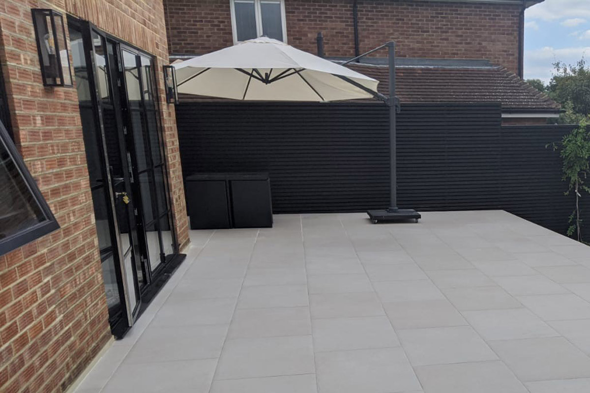 Florence White Porcelain Paving | Outdoor Tiles | London Stone