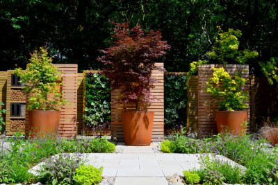 Corten Steel Tall Plant Pot