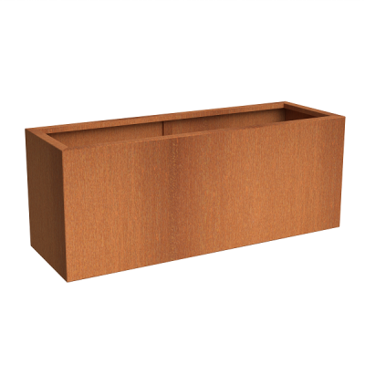 Corten Steel Tall Trough Planter