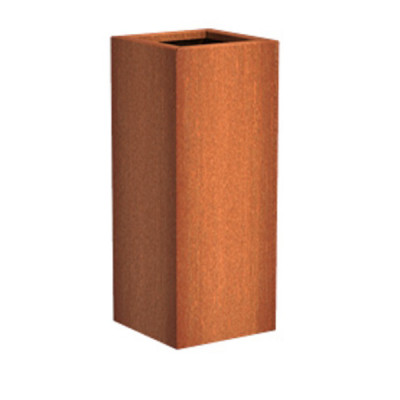 Corten Steel Tall Square Planter