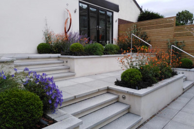 Silver Grey Granite Bullnose Step