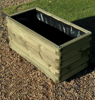 Wooden Planed Trough Planter Box