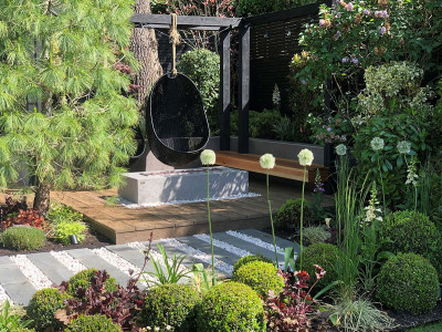Black Granite Plank Paving