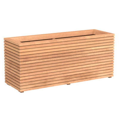 Grooved Garapa Hardwood Tall Trough Planter