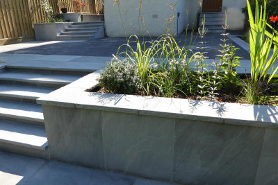 Kandla Grey Sandstone Rock-Faced Coping Stones