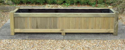 Wooden Long Trough Planter Box