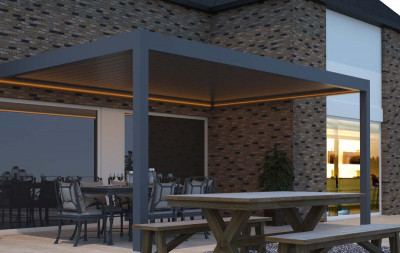 Pinela Louvered Roof With Lights