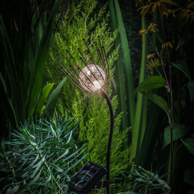 Solar LED Single Thistle Stake Light