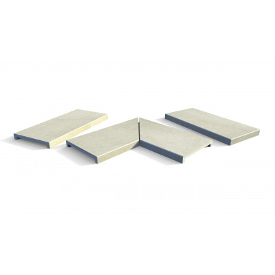 Ash Beige Porcelain 40mm Downstand Coping Stones