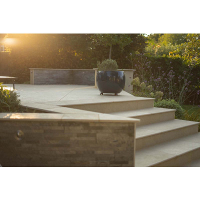 Golden Stone Porcelain 20mm Bullnose Step
