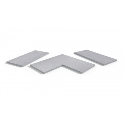 Beola Bianca Porcelain 5mm Chamfered Coping Stones