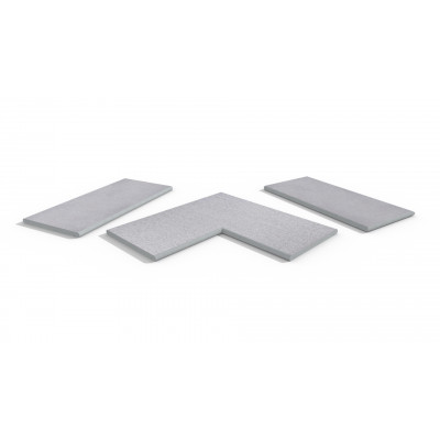 Beola Bianca Porcelain 20mm Bullnose Coping Stones