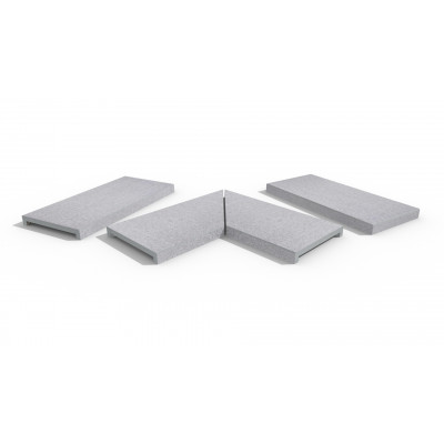 Beola Bianca Porcelain 40mm Downstand Coping Stones