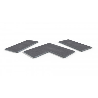 Cave Porcelain 20mm Bullnose Coping Stones