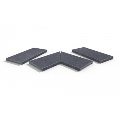 Cave Porcelain 40mm Downstand Coping Stones