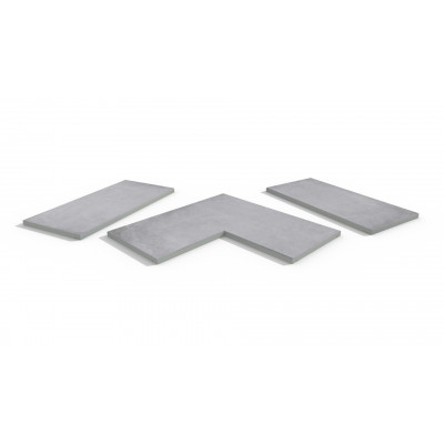 Cement Porcelain 5mm Chamfered Coping Stones