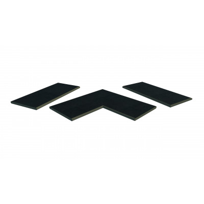Charcoal Porcelain 20mm Bullnose Coping Stones