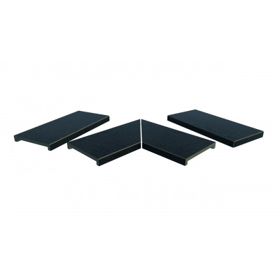 Charcoal Porcelain 40mm Downstand Coping Stones