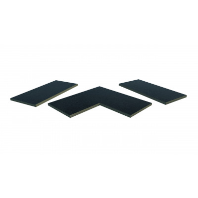 Charcoal Porcelain 5mm Chamfered Coping Stones