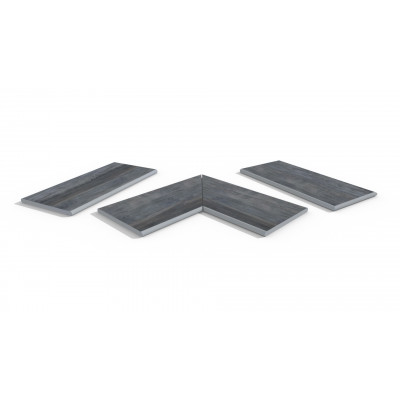 Cinder Porcelain 20mm Bullnose Coping Stones