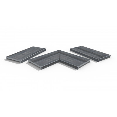 Cinder Porcelain 40mm Downstand Coping Stones