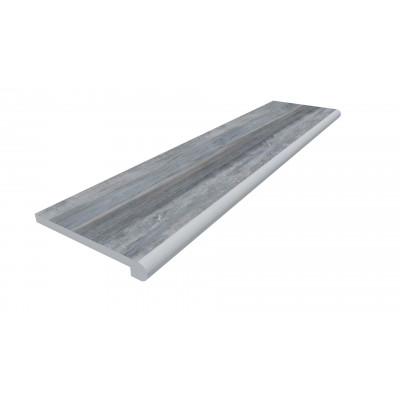 Cinder Porcelain 40mm Bullnose Step