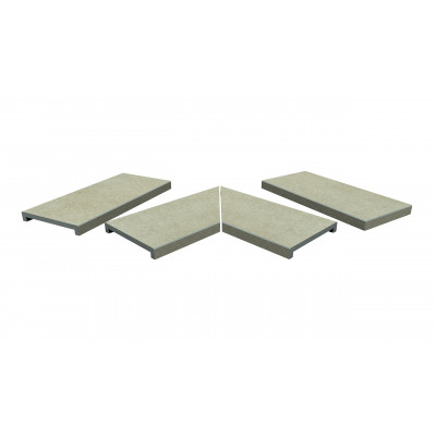 Cream Porcelain 40mm Downstand Coping Stones