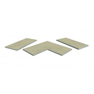 Cream Porcelain 5mm Chamfered Coping Stones