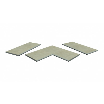 Cream Porcelain 20mm Bullnose Coping Stones