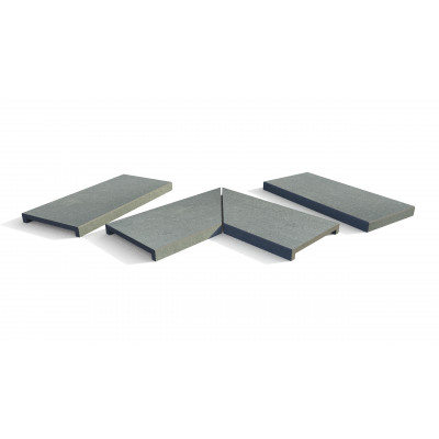 Platinum Grey Porcelain 40mm Downstand Coping Stones