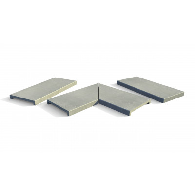 Polished Concrete Porcelain 40mm Downstand Coping Stones
