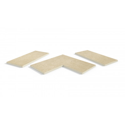 Florence Beige Porcelain 5mm Chamfered Coping Stones