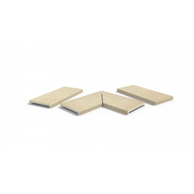 Florence Beige Porcelain 40mm Downstand Coping Stones