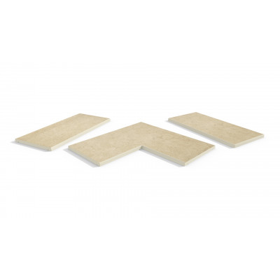Florence Beige Porcelain 5mm Pencil Round Coping Stones
