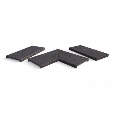 Florence Dark Porcelain 40mm Downstand Coping Stones