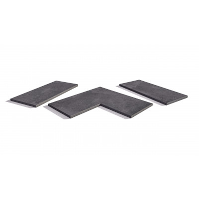 Florence Dark Porcelain 5mm Chamfered Coping Stones