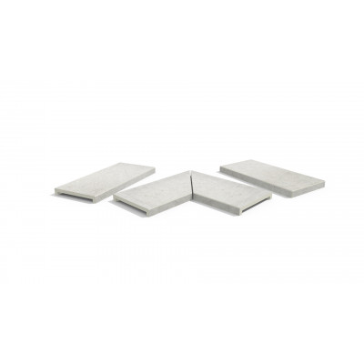 Florence Grey Porcelain 40mm Downstand Coping Stones