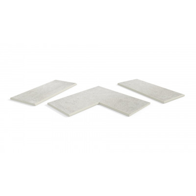 Florence Grey Porcelain 20mm Bullnose Coping Stones