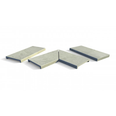 Florence Storm Porcelain 40mm Downstand Coping Stones
