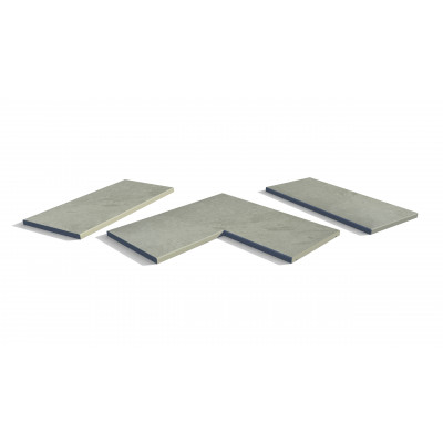 Florence Storm Porcelain 5mm Chamfered Coping Stones