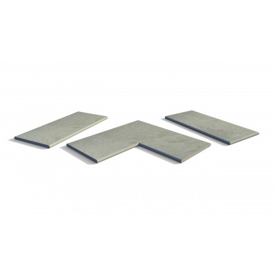 Florence Storm Porcelain 20mm Bullnose Coping Stones