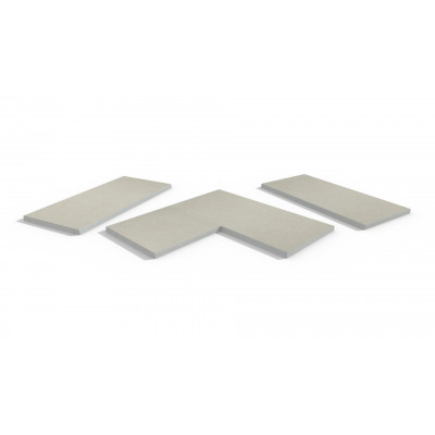 Florence White Porcelain 5mm Pencil Round Coping Stones