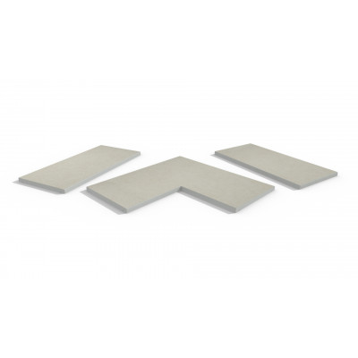 Florence White Porcelain 5mm Chamfered Coping Stones