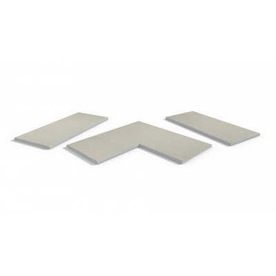 Florence White Porcelain 20mm Bullnose Coping Stones