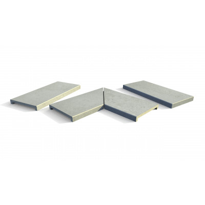 Frosty Grey Porcelain 40mm Downstand Coping Stones