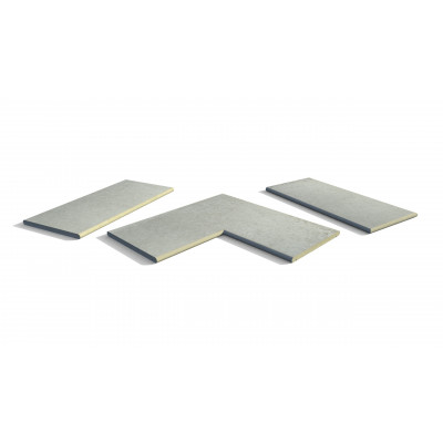 Frosty Grey Porcelain 20mm Bullnose Coping Stones