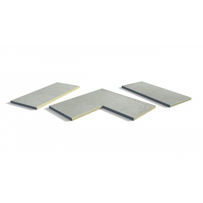 Frosty Grey Porcelain 5mm Chamfered Coping Stones