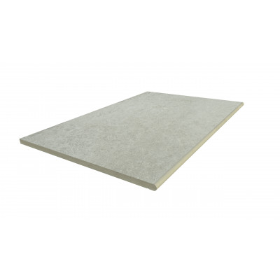 Frosty Grey Porcelain 20mm Bullnose Step