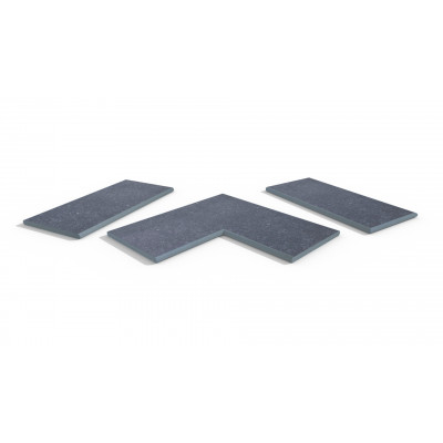 Pierre Blue Porcelain 20mm Bullnose Coping Stones