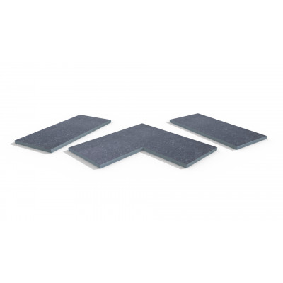Pierre Blue Porcelain 5mm Chamfered Coping Stones